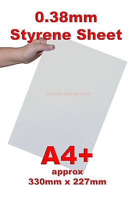 0.38mm Styrene Plasticard 12x Sheet Pack Vacuum Forming Scratch Build Modelling