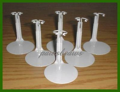 """6 Kaiser Miniature Doll Stands fits 5"""" McDONALDS Happy Meal Madame Alexander"""