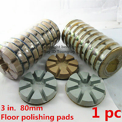 "3"" in Diamond Polishing Pads Disc For Granite Marble Concrete Floor 80mm Grit 50"