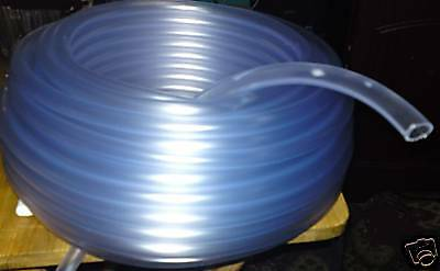 """25mm 1"""" 1 METRES CLEAR PVC FLEXIBLE TUBING WATER AIR POND HYDROPONICS HOSE PIPE"""