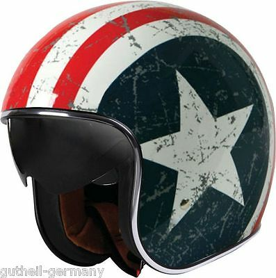 Classic Jethelm für Chopper Roller Custombike US-Flag stars & stripes USA NEU