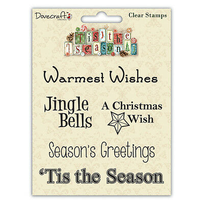 Dovecraft Tis the Season Sentiment Clear Stamps - Jingle