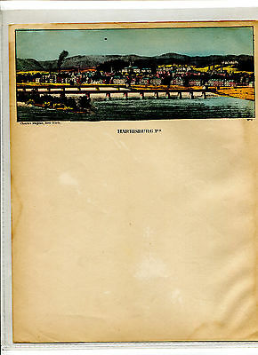 Vintage MAGNUS color LETTERHEAD HARRISBURG PA from the water