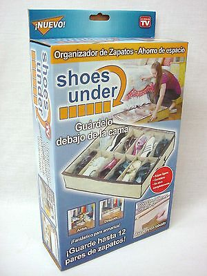 (34111) Organizador Zapatero Guarda Zapatos 12 Pares Shoes Under