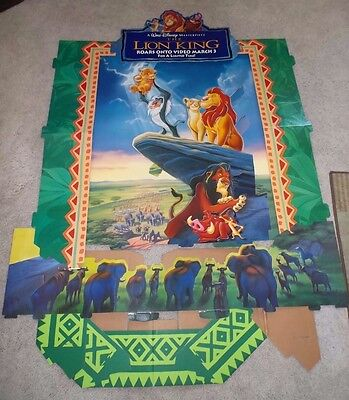 Disney: The Lion King Movie Standee (Rare, Display)  Vintage 1995 New in Box 5'