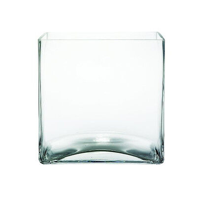 6-pack 12.7cm (5 Inch) Wedding Centerpiece Clear Square Glass Vase Cube 12x12x12