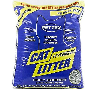 PETTEX CAT LITTER - Premium Fullers Earth Clumping Waste Cat Kitten Animal Clump
