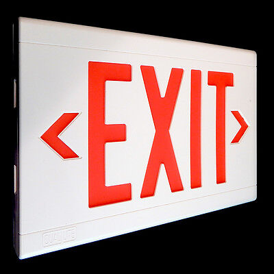 Hubbell Lite Forms Dual Lite Thermoplastic LED Exit Sign LXURWEI-WM
