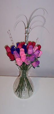 Red Hat & Pink Hat Ladies - Wooden Roses in Your Colors