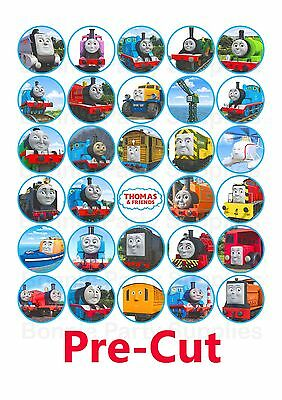 30 Thomas The Tank Engine EDIBLE Cupcake Cake Toppers Birthday PRE CUT