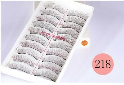 10 Pairs Natural Long Thick Soft Fake False Eyelashes Extension Handmade Makeup
