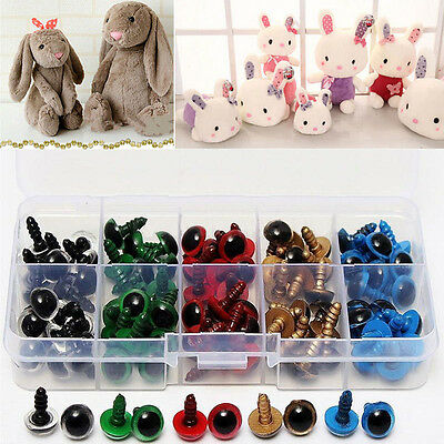 100PCS Black/Color Plastic Safety Eyes Toys for Teddy Bear Doll Making Craft DIY