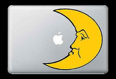 Man in the Moon Face Sticker Apple Mac Book Air/Pro Dell Laptop Decal 1