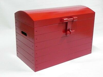 RED Wooden Trunk Chest Storage Toy Box Wood Ottoman Basket Beding Free Shipping