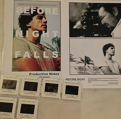BEFORE NIGHT FALLS (2000) Press Kit Photos, Slides; Javier Bardem, Johnny Depp