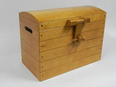 Brown Wooden Trunk Chest Storage Box Wood Ottoman Basket Beding Free Shipping /2
