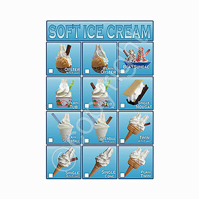 ice cream van sticker, 12 individual vertical sticker