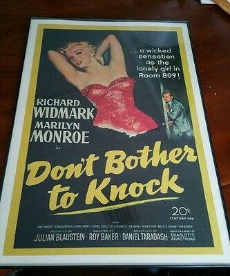 Marilyn monroe Dont Bother To Knock Vintage Framed.movie 12x18 poster