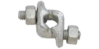 3/8'' Twin Base Wire Rope Clip Hot Dip Galvanized 6 PCS