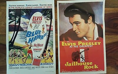 2 Elvis Presley classic movie poster - Blue Hawaii and Jailhouse rock (11x17'')