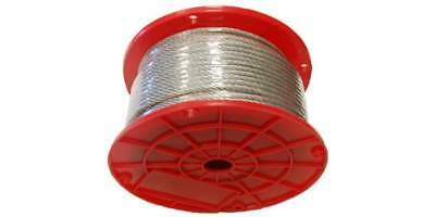 7X7 Galvanized Aircraft Cable Wire Rope PVC Coated 1/8''x3/16' 250' Reel