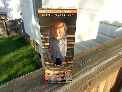 Justin Timberlake NSYNC Bobble Head, 2001, Best Buy, Collectible MINT