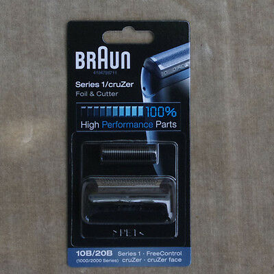 BRAUN 10B 20B Shaver Foil Cutter Head For Series 1 1000 1735 1775 170 180 190