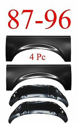 87 96 4Pc Ford Inner & Outer Wheel Arch Repair Panel Kit, L&R Truck & Bronco