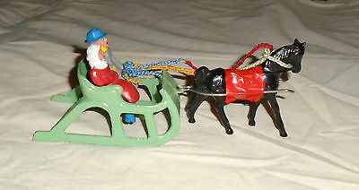 """VINTAGE LEAD RARE BARCLAY""""ONE HORSE OPEN SLEIGH"""" NEAR MINT FREE SHIPPING Lot B"""