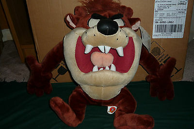 "Big 16"" Looney Tunes Taz Plush with Tag by Ganz Nice and Clean"