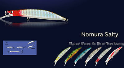 *Nomura Salty Hard Bait Lures - Bass Wrasse Cod Pollock Pike Sea Fishing Tackle