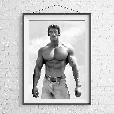 ARNIE ARNOLD SCHWARZENEGGER MUSCLE POSTER PICTURE PRINT Sizes A5 to A0 **NEW**