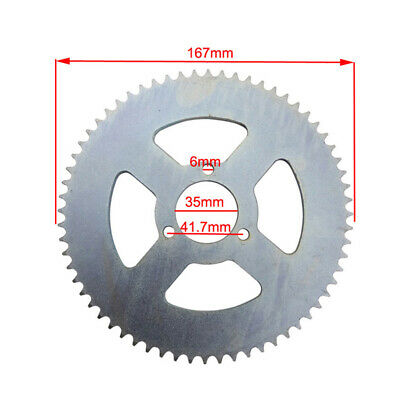 47cc 49cc Scooter T8F 64T Rear Chain Sprocket  Mini Moto ATV Quad Pocket Bike