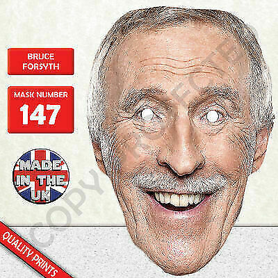 Bruce Forsyth Celebrity Strictly Dancing Card Mask - Party Mask!
