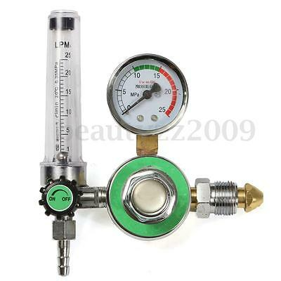 Argon CO2 MIG TIG Flow Meter Welding Weld Regulator Gauge Welder CGA580 Fits
