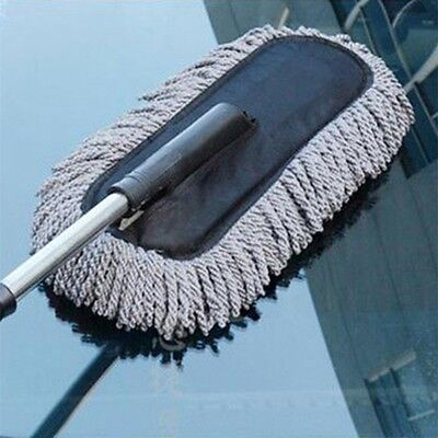 Microfiber Duster Telescoping Car Clean Cleaning Wash Brush Dusting Tool IB
