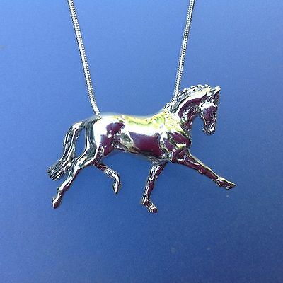 Dressage Horse Pendant  Sterling Silver Zimmer Equestrian Jewelry
