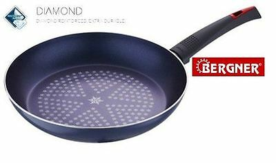 Bergner Blue Diamond Coated Aluminium Non Stick Frying Frypan 24cm Induction