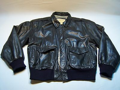 Vintage G-III Leather Fashions Casual Full Zip Leather Jacket Men's Size M