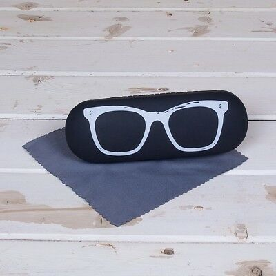 Toms Depot Glasses case with Hinged lid & cloth Great gift 16 x 6 x 4cm New