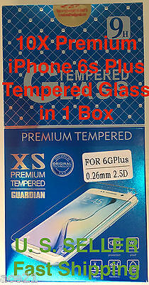 10x Wholesale Lot Tempered Glass Screen Protectors for Apple iPhone 6s Plus