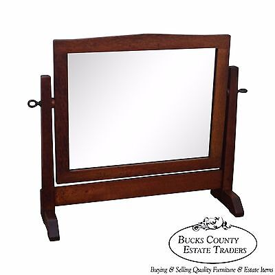 Gustav Stickley Rare Antique Mission Oak Shaving Mirror