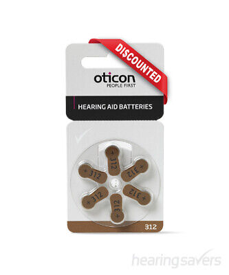 NEW Oticon Hearing Aid Batteries size 312 from Hearing Savers