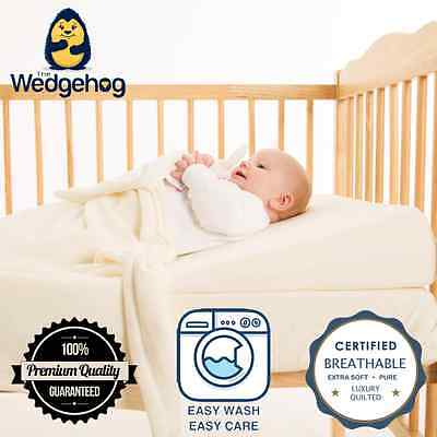 Luxury Quilted Wedgehog™ - 60cm Cot Reflux Wedge + Reflux Support Membership