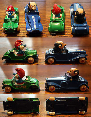 Toy Car Lot: Smurfs Gargamobile + Papa Smurf 4 5 ERTL 1982