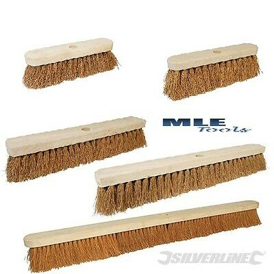 36 coco bristles Broom Soft Coco 36 914mm compatible with 29mm Rubberwood with soft 914mm 1-1//8 For indoor and outdoor use . dia Silverline Broom Handles 479573 or 746719