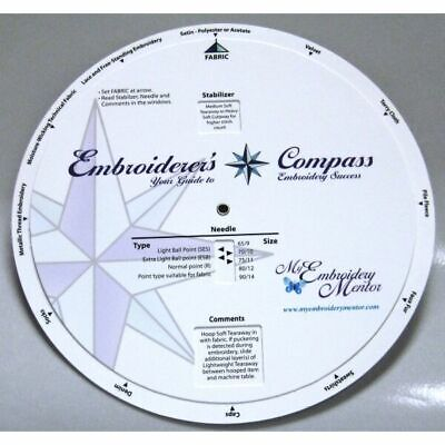 Embroiderers Compass Tool for Embroidery Success NEW