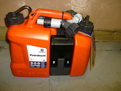 Husqvarna Combi Can - Petrol and Oil Fuel Spouts Chainsaw Forestry Equipment