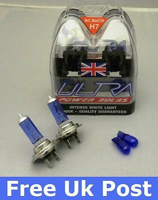 A Pair of H7 Ultra Power Xenon Ice blue Bulbs for VAUXHALL ASTRA MK4