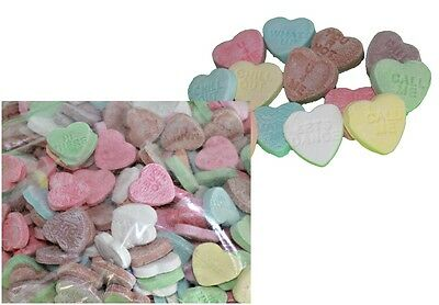 500g x CONVERSATION HEARTS Bulk Sweets Party Favours Candy Wedding Lollies